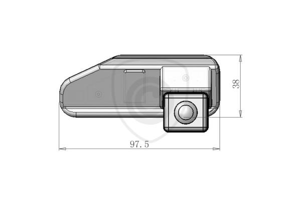 Tolatókamera Lexus ES350, ES240, IS250, IS300, IS380, RS270, RS350 tolatókamera