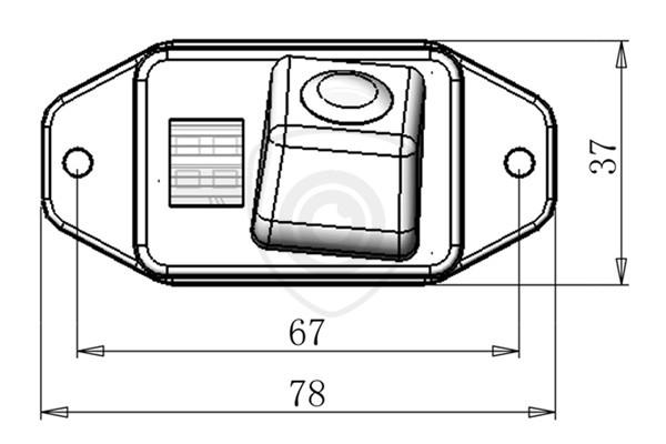Tolatókamera Toyota Land Cruiser J100, J120, J200