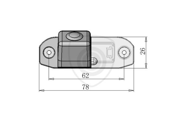 Tolatókamera Volvo S80, S40, XC60, XC70, XC90, C70, S60, V50, V60, V70