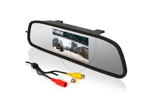 A visszapillantó tükörben található monitor, 4,3″ átlóméretű kijelzővel