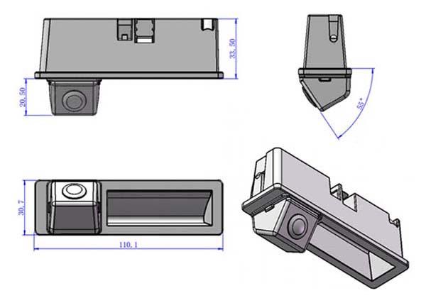 Audi tolatókamerák – a csomagtartó fogantyúja