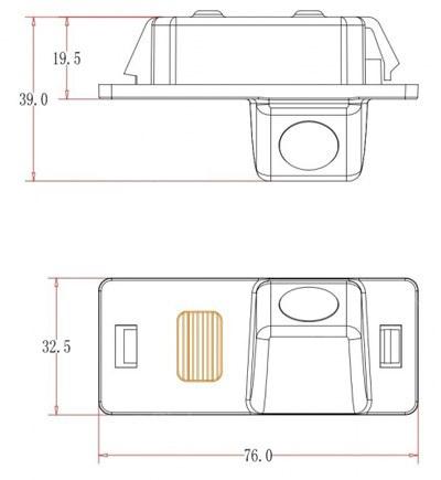 Tolatókamera Audi A1, A4, A5, Q5, TT, A6, A7, Q3, Q7