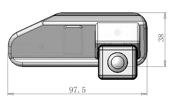 Tolatókamera Lexus ES350, ES240, IS250, IS300, IS380, RS270, RS350