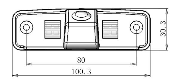Tolatókamera Subaru Forester, Impreza, Legacy Wagon, Outback