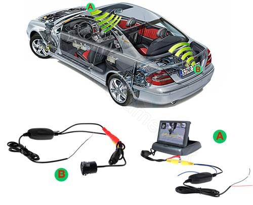 Kapcsolási rajz: WiFi vezeték nélküli adapter tolatókamerához
