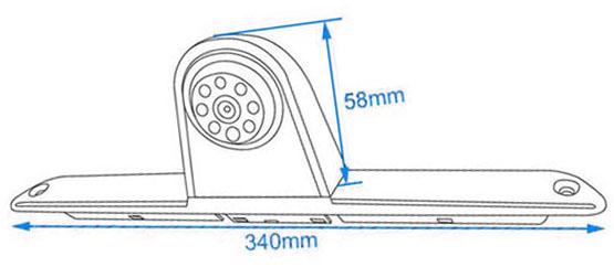 Méretek: Tolatókamera a féklámpában Mercedes Sprinter