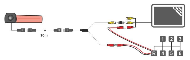 autómonitor bekötési rajz - Állványos monitor 5